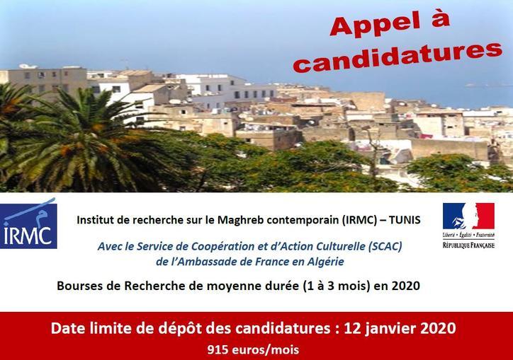 Bourses De Recherche De Moyenne Durée Irmc Tunis